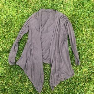 Express grey lightweight cardigan